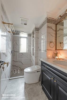 精美面积98平美式三居卫生间装修效果图三居美式经典家装装修案例效果图