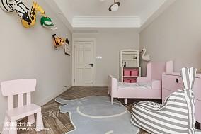 热门103平米三居儿童房美式装修欣赏图三居美式经典家装装修案例效果图