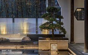 136平米中式别墅花园装修效果图片大全别墅豪宅中式现代家装装修案例效果图