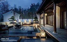热门面积116平别墅花园中式欣赏图片别墅豪宅中式现代家装装修案例效果图