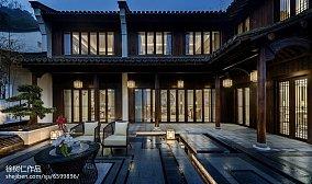 精美中式别墅花园实景图别墅豪宅中式现代家装装修案例效果图