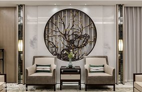 热门125平米中式别墅客厅效果图片大全别墅豪宅中式现代家装装修案例效果图