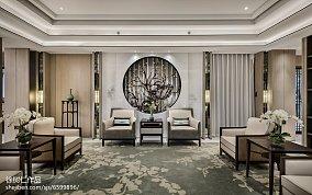 面积143平别墅客厅中式装修图别墅豪宅中式现代家装装修案例效果图