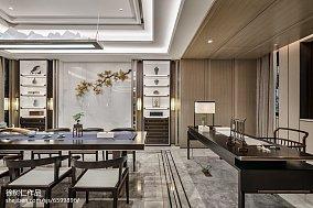 精美138平米中式别墅餐厅欣赏图别墅豪宅中式现代家装装修案例效果图