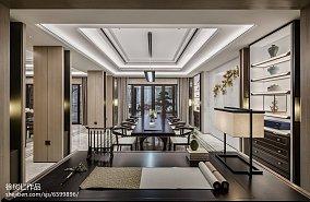 精美143平米中式别墅餐厅欣赏图片别墅豪宅中式现代家装装修案例效果图