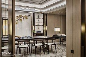 2018面积112平别墅餐厅中式装修欣赏图片别墅豪宅中式现代家装装修案例效果图