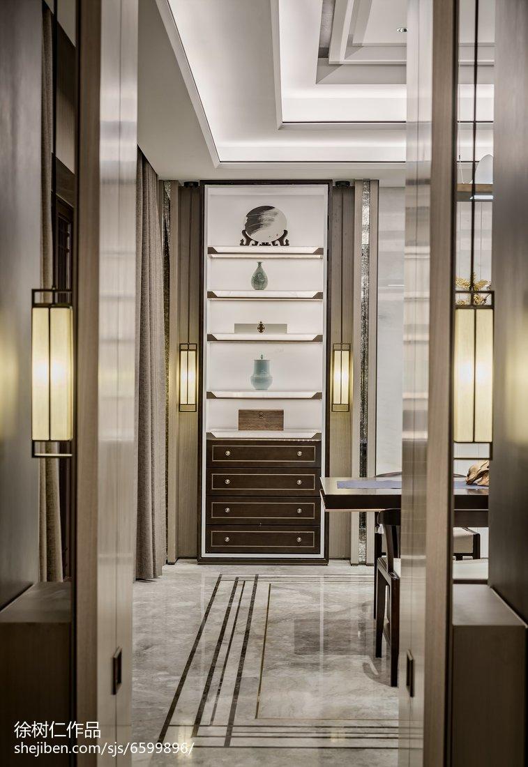 2018精选130平米中式别墅餐厅效果图片欣赏功能区中式现代功能区设计图片赏析