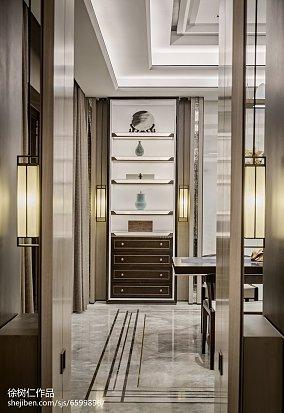 2018精选130平米中式别墅餐厅效果图片欣赏别墅豪宅中式现代家装装修案例效果图