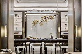 平米中式别墅餐厅装饰图别墅豪宅中式现代家装装修案例效果图