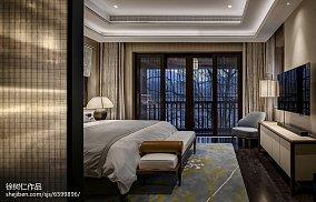 平米中式别墅卧室实景图别墅豪宅中式现代家装装修案例效果图