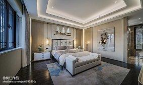精美398平中式别墅卧室装修美图别墅豪宅中式现代家装装修案例效果图