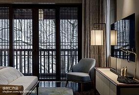 精美137平方中式别墅卧室装饰图片大全别墅豪宅中式现代家装装修案例效果图
