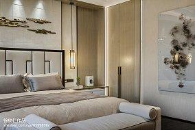 明亮527平中式别墅卧室设计效果图别墅豪宅中式现代家装装修案例效果图
