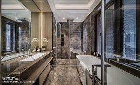 精美面积120平别墅卫生间中式效果图片大全别墅豪宅中式现代家装装修案例效果图