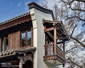 质朴744平中式别墅花园设计图别墅豪宅中式现代家装装修案例效果图