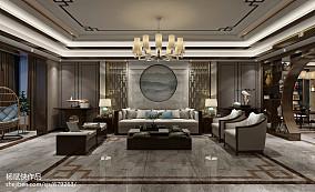 精美120平米中式别墅客厅效果图片欣赏