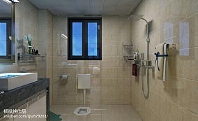 热门面积104平中式三居卫生间装修效果图