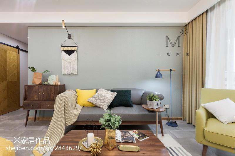 质朴120平北欧三居装饰图片三居北欧极简家装装修案例效果图