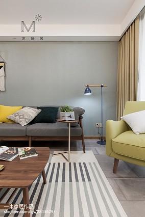 温馨122平北欧三居装饰美图三居北欧极简家装装修案例效果图
