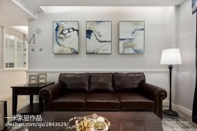 188㎡轻奢美式客厅背景画设计图
