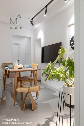 质朴89平现代二居布置图二居现代简约家装装修案例效果图