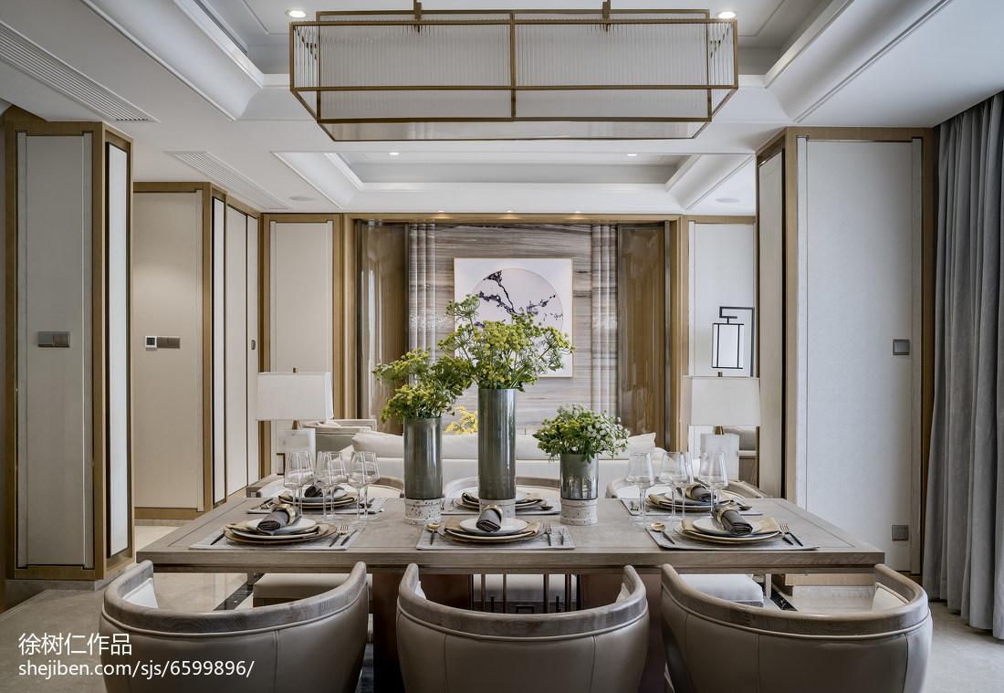 悠雅903平中式别墅餐厅案例图厨房中式现代餐厅设计图片赏析