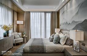 大气644平中式别墅卧室实景图片卧室中式现代设计图片赏析