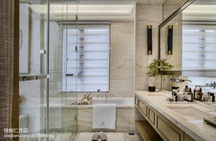 精美350平中式别墅卫生间装修设计图卫生间
