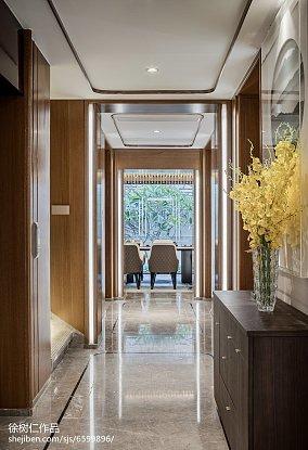 精选别墅过道中式装修欣赏图片别墅豪宅中式现代家装装修案例效果图