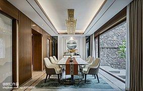 精选112平米中式别墅餐厅装修实景图片别墅豪宅中式现代家装装修案例效果图