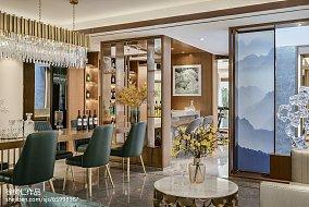 面积133平别墅餐厅中式装修实景图片大全别墅豪宅中式现代家装装修案例效果图