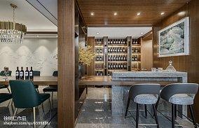 面积141平别墅餐厅中式装修欣赏图片别墅豪宅中式现代家装装修案例效果图