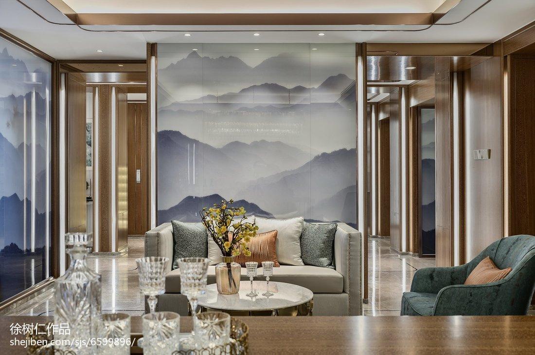 2018面积113平别墅餐厅中式装修效果图片大全别墅豪宅中式现代家装装修案例效果图