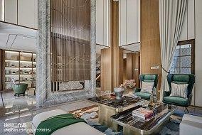 热门137平方中式别墅客厅效果图片别墅豪宅中式现代家装装修案例效果图