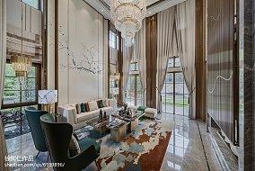 面积138平别墅客厅中式装修图别墅豪宅中式现代家装装修案例效果图