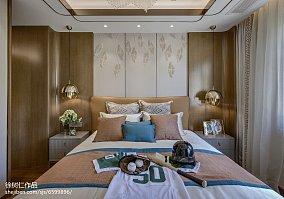 138平米中式别墅卧室装修欣赏图别墅豪宅中式现代家装装修案例效果图