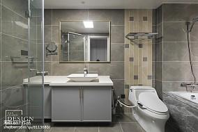 优美150平美式四居卫生间装饰图