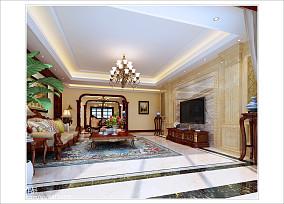 中式田园风格室内客厅装修