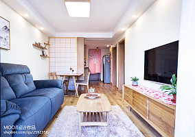 精选85平米二居客厅日式装修效果图