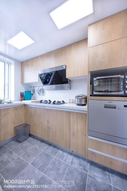 热门85平米二居厨房日式装修实景图餐厅