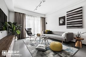 优美120平北欧三居客厅装修美图三居北欧极简家装装修案例效果图