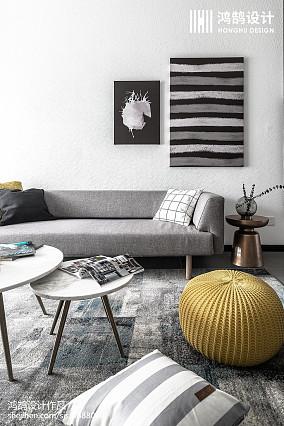 精致90平北欧三居客厅设计美图三居北欧极简家装装修案例效果图