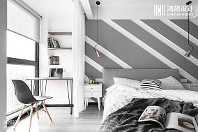 悠雅127平北欧三居卧室美图三居北欧极简家装装修案例效果图