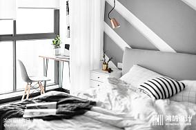 简洁114平北欧三居卧室装饰图片三居北欧极简家装装修案例效果图