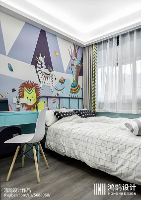 华丽88平北欧三居儿童房案例图三居北欧极简家装装修案例效果图