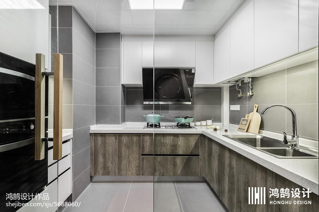 精美100平北欧三居厨房设计美图餐厅北欧极简厨房设计图片赏析