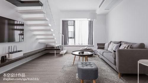 精选面积112平简约四居客厅装修效果图片欣赏客厅木地板121-150m²四居及以上现代简约家装装修案例效果图