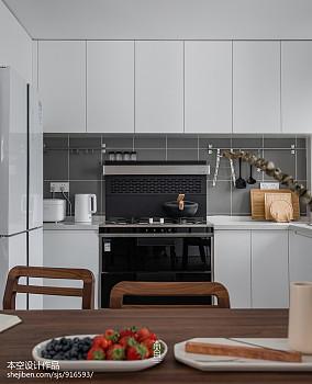热门110平米四居厨房简约装修图片大全