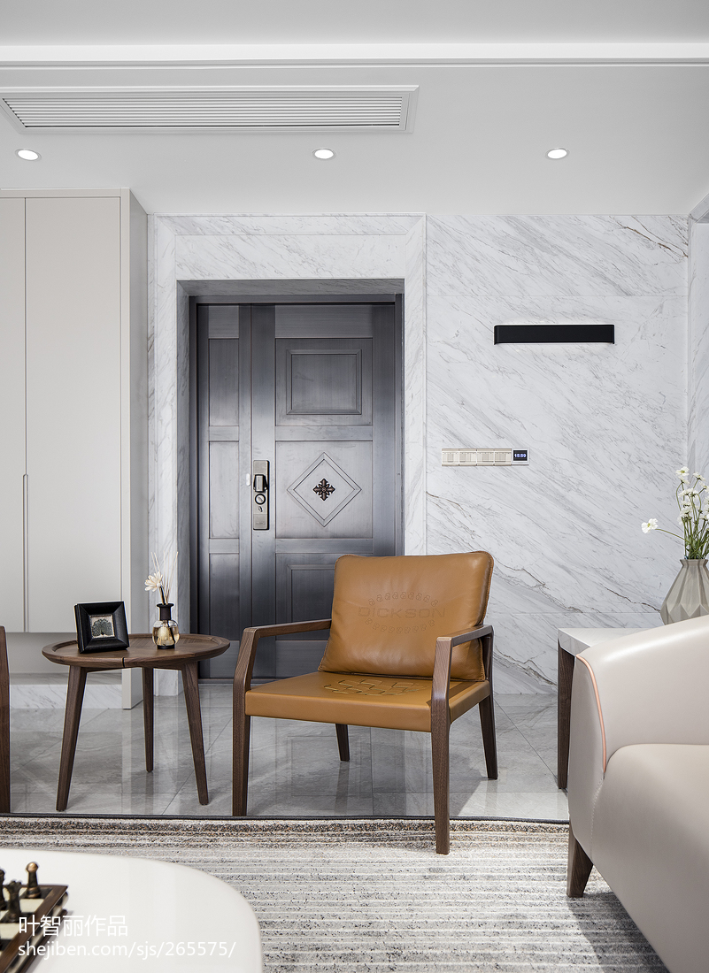温馨风现代客厅设计客厅门现代简约客厅设计图片赏析