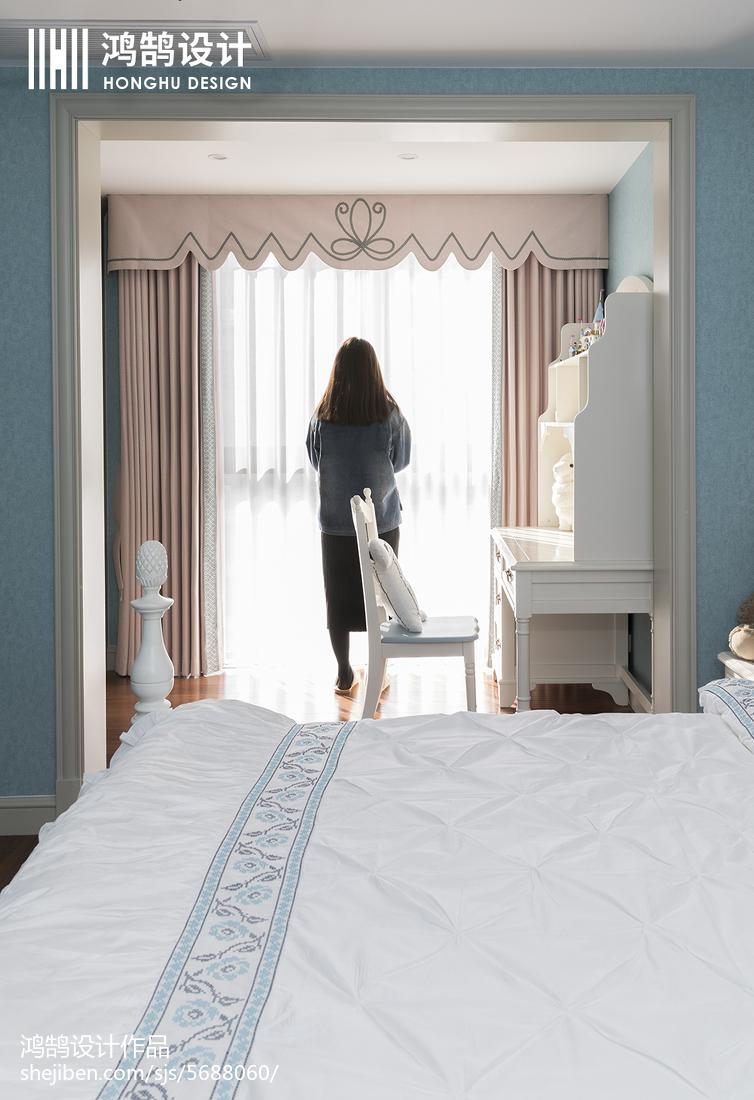 精美面积95平美式三居卧室装修效果图卧室美式经典卧室设计图片赏析